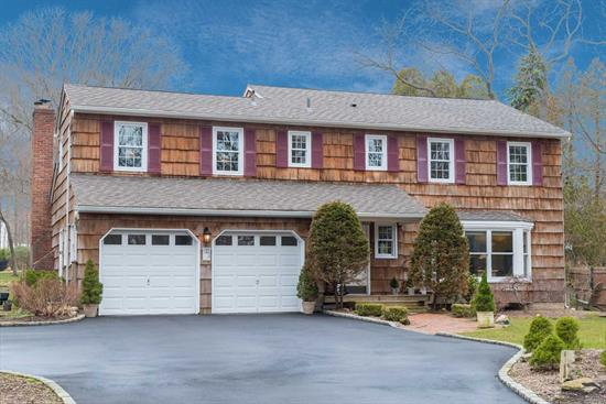 Spectacular Colonial , Old Chester Hills Area, Set Back Over 100' From The Road! Private Park Like Secluded Acre Within Minutes Of Parkways. Granite Kitchen/Ss Appliances, Newer Roof, New 6 Car Driveway Belgium Block , Beautiful Hardwood Floors, Den W/Wood Burning Fireplace Insert. Elwood Sd #1 And More. A Must See!