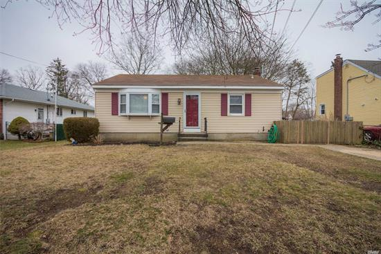 Why Rent When You Can Buy! Don't Miss The Opportunity To Own This Ranch-Style Home In Suffolk County. This Cozy Home Has 3 Bedrooms, An Eik, Updated Full Bath And Family Room. A Partial Finished Basement W/Full Bath. Room For Extended Family, Large Flat Backyard, Close To Parkways And Beaches. Low Taxes!!! Come Make This Your Home.
