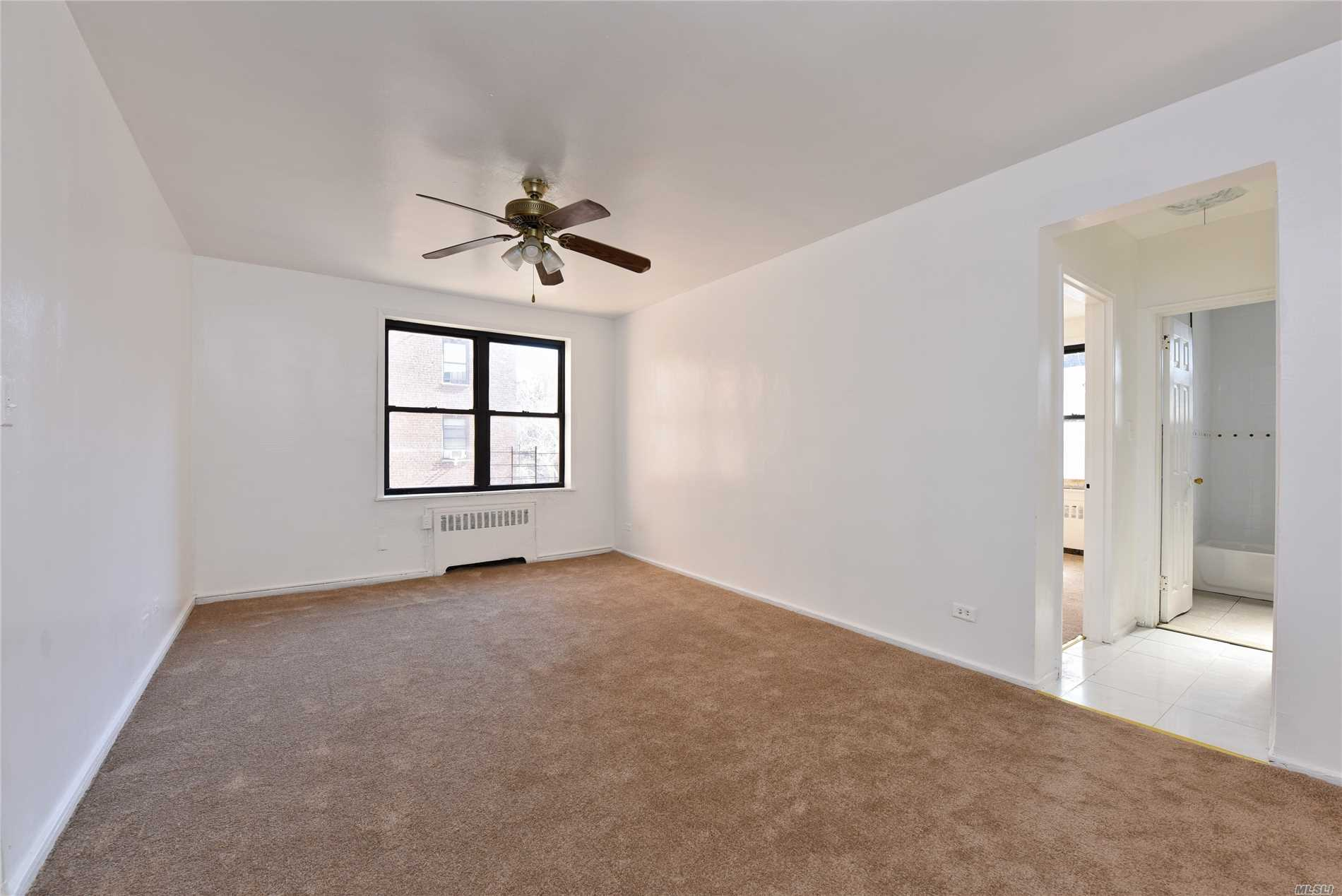 Bright 1Br Coop Unit, Rentable After 2 Years, No Flip Tax, Updated Kitchen And Bathroom, Lot Closets, New Carpets, Laundry Room And Recreation Room Are Available. Sale May Be Subject To Term And Conditions Of An Offering Plan, 2 Blocks To E, M, R Train, 1 Block To Bus Stop, Walk To Broadway, Close To Park, Post Office, School, Supermarket, Etc. All Information Deemed Accurate However Should Be Independently Verified.