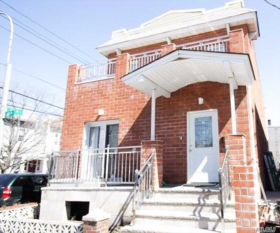 Newly Built Two Family Brick House At The Prime Location In Maspeth. One Duplex Apartment With 3 Bedrooms On The First Floor, Fourth Bedroom On The 2nd Floor With The Balcony Overlooking The Street. Huge Living Room Features An Open Kitchen And A Full Bath Comes With Jacuzzi. On The Rear Of The 2nd Floor, Is A Two Bedroom Apartment With Separate Entrance. Everything Is 4 Years Old In This House! You Will Be Buying A Brand New House, Pack Your Bag And Let's Move In!