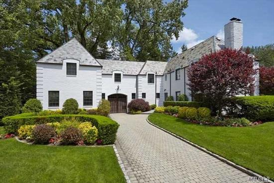 Chateau On Half-Acre Beautifully Landscaped Grounds. This Normandy Home Features 4, 933 Sq. Ft. Of Elegance On Quiet Street Of University Gardens. 5 Large Brs Incl Huge 1st Fl Br Suite, 4 Full + 2 Half Baths, Gracious Lr W/Fireplace, Formal Dr, High Ceiling Den W/Fireplace, Gourmet Eik W/Skylight And French Doors To Patio. Private Community Pool/Tennis. Gn South Schools.