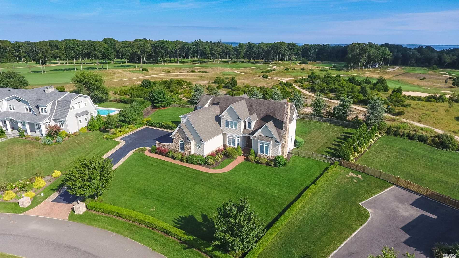 Stunning Architectural Delight Overlooking Golf Course In Private, Prime Golf Course Community. Move In This Custom Home With Incredible Fine Detail & Mill Work. Great Entertaining Flow, Gourmet Kitchen With Huge Walk In Pantry Opens To Great Room With Vaulted Ceiling, Beautiful Hardwood Floors Throughout, 5 Bedrooms, 3.5 Baths, Room For Guests, Gym, Heated Salt Water Pool, Outdoor Fireplace, Much More!