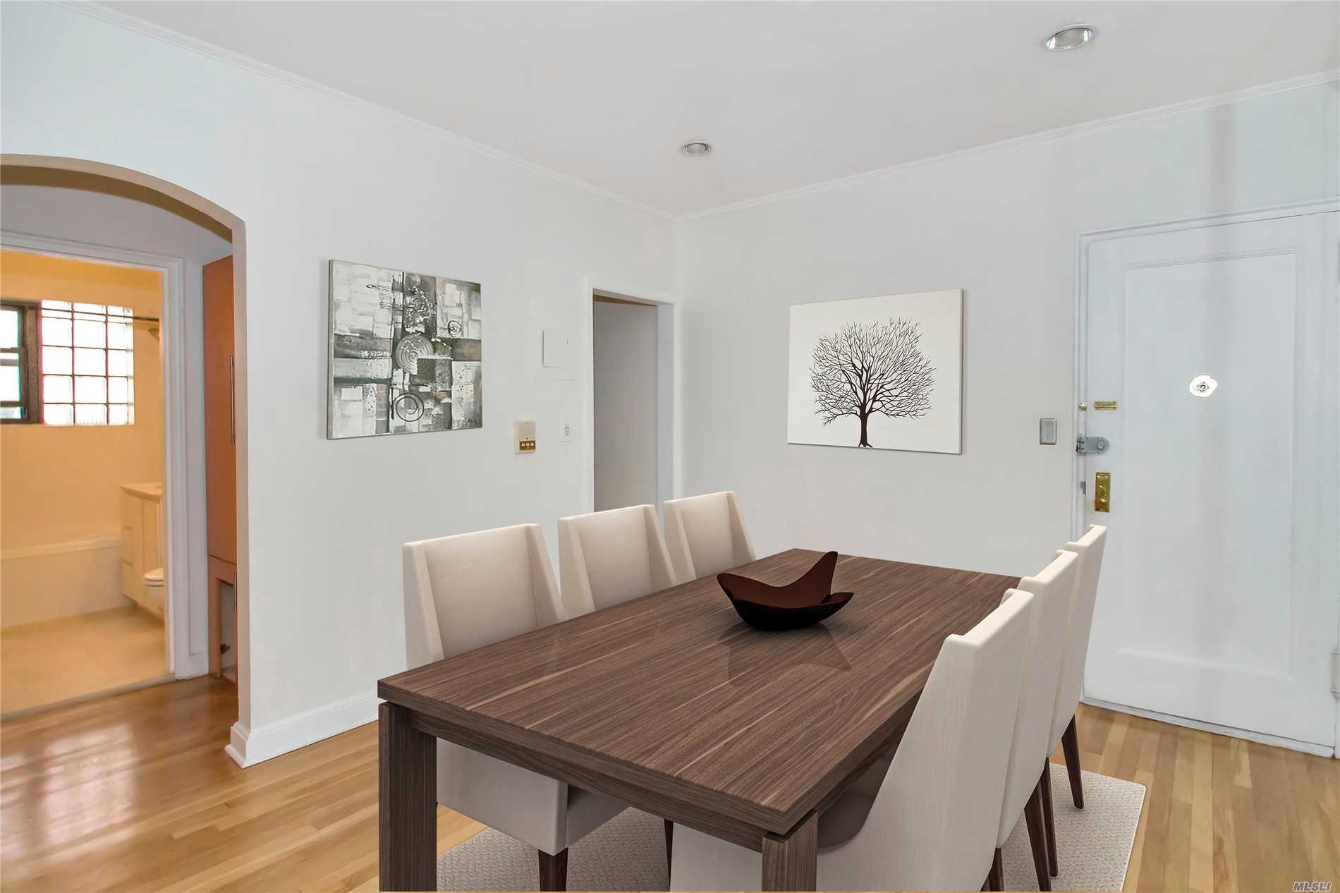 Beautiful One Bedroom Apartment W/Hardwood Floors, Updated Kitchen W/Wood Cabinets & Gas Cooking, Updated Bath, Large Bedroom, Big Closets Throughout, Close To Lirr, Shopping & Municipal Parking.Gn Schools- Saddle Rock Elem, South Middle, And South Hs.