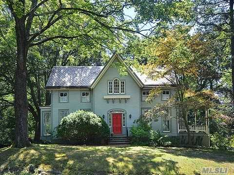 Elegant, Historic Home On One Beautiful Wooded Acre. Light Filled Rooms,  Original Woodwork, Working Fireplaces. Too Much To List, This Home Must Be Seen To Fully Appreciate All It Has To Offer.
