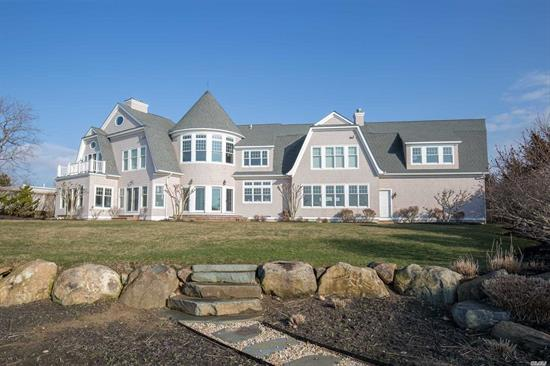 Spectacular Custom-Built Waterfront Home. Enjoy Sunsets Over The Long Island Sound And Take In Sweeping Water Views From Nearly Every Room. This 4 Bedrooms, 4 Bath Home Boasts A Chefs Kitchen, 3 Gas Burning Fireplaces, Brazilian Cherry Wood Floors, Hardwired With Surround Sound. Landscaped For Privacy And 170Ft Of Soundfrond Beach. Conveniently Located To Greenport's Many Restaurants And Shops.