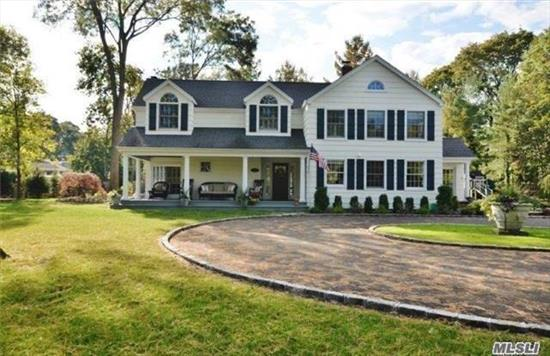 50 Min Rr Commute To Nyc! Gorgeous 4Br, 3 Bath Newly Renovated Colonial! Entertainer's Delight! Gourmet Chefs Eik W/Top Of The Line Appls, Oversized Fam Rm W/Fp & Coffered Ceils, 1Flat Acre In Desirable N. Syo/Private Rd! Welcoming Front Porch, Newly Paved Dw, Solar Panels=energy Savings=electric Bill Was $10!! 6
