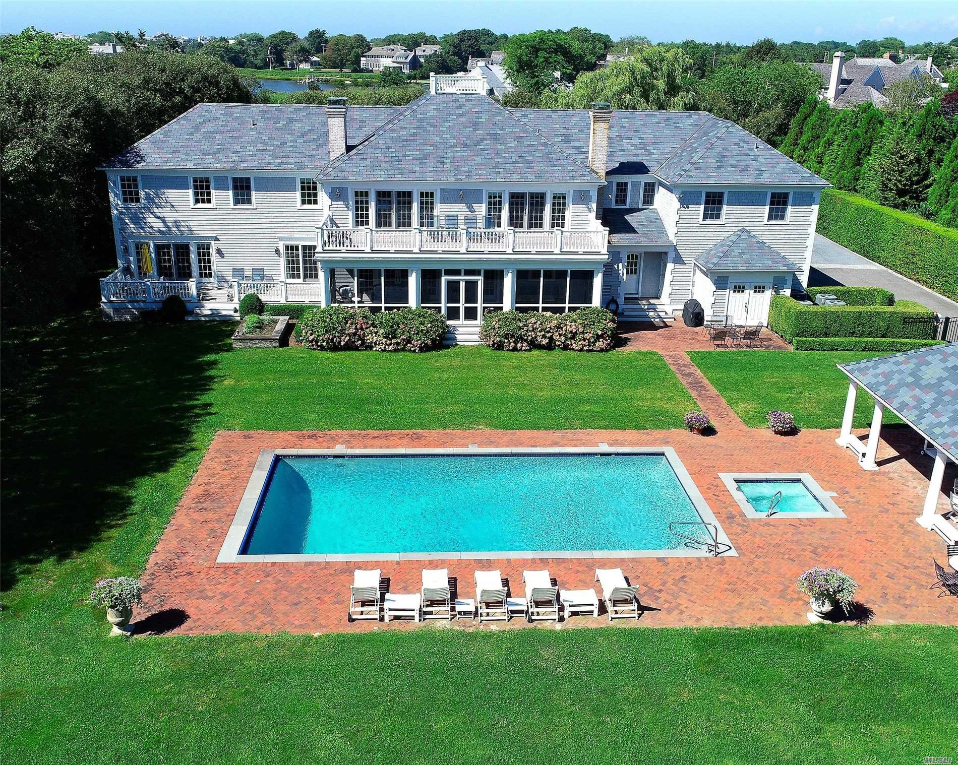 Just Minutes From Quogue Beaches, This Custom-Designed Home Is Located On 1.2Acres In Quogue's Desirable Estate Section. Built By Joe Spano In 2006 With Continuous Upgrades, It Offers The Best Of Both Worlds: An Architecturally Historic Feel With All The Modern Conveniences. Luxurious Detailing And Millwork Found Throughout The House, Extensive High-End Amenities (See Attached), Quogue's Low Taxes, And So Much More!