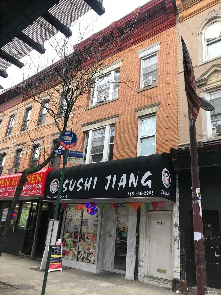 Great Income Producer Mixed Use Building On The Busy Street Of Jamaica Ave. Newly Renovated Japanese Restaurant On The First Fl, Good Rental Conditions On The 2 And 3 Fl Apts And Full Finished Basement.