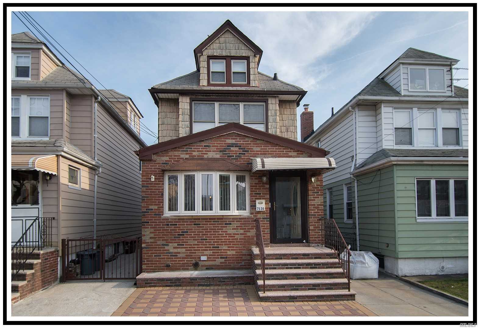 Two Family Home For Sale, Full Of Possibilities In Prime Location & The Home Does Not Disappoint. Detached Legal 2 Family Property Offers 2 Duplexes, Private Driveway & Garage. Main Apartment 1st Fl & Basement W/ Huge Living Room/Dining Space, Large Eat In Kitchen, 2 Bedrooms, Bathroom & Access To The Private Backyard. Hardwood Floors & Lots Of Natural Light. Upstairs Duplex Features Renovated Eat In Kitchen, Bathroom, Living Room, Large Master Bedroom & Attic. Close To All!