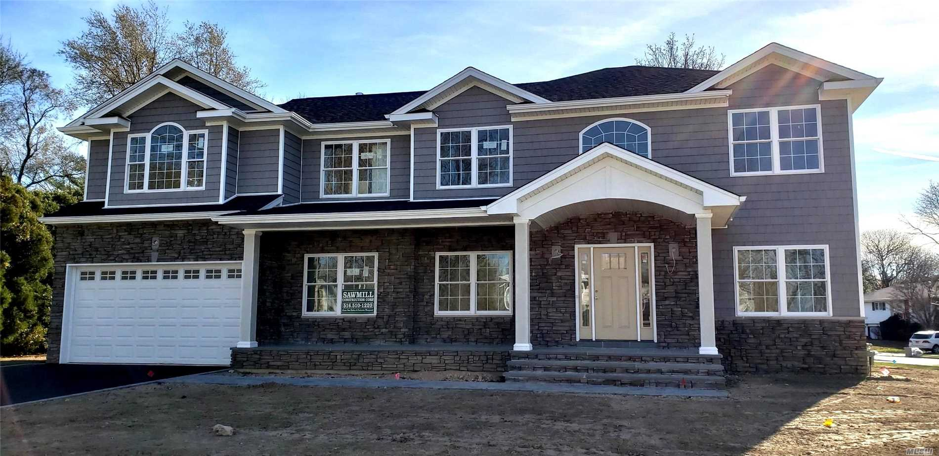 Almost Complete!~ Sought Out Flower Section! N. Syosset! 5Br, 4.5Bth Colonial. Exquisite! Open Concept Floor Plan. Top Quality Construction W/Elegant Finishes. Grand Entry! Eik, Flr, Fdr, Fam Rm W/Frpl, Pantry, Mudroom, Office/Guest Rm W Full Bath, 2nd Fl: Master Suite W 2 Walk In Closets, Parklike Property! Berry Hill Elementary! Pictures Of Interior And Rendering And Are Not Exact