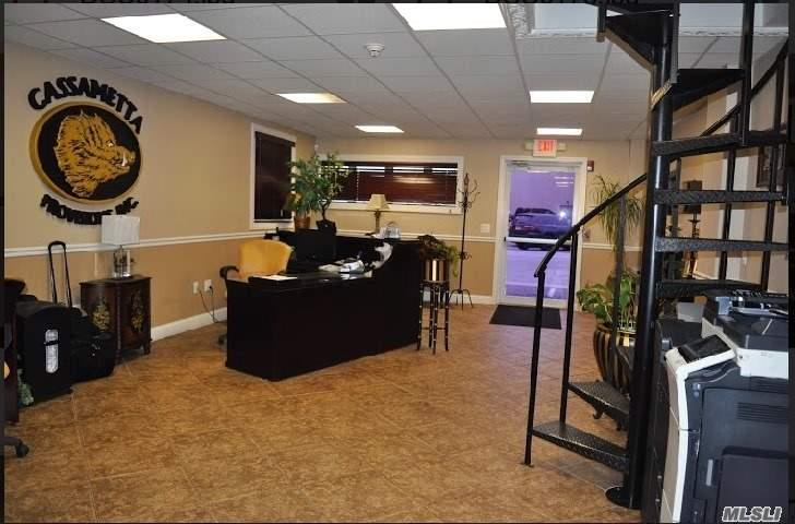 Newly Renovated 8160 Sq Ft Warehouse/Office Space Can Be Subdivided. Features Are 2 Drive In Grade-Level 18' Doors With Space For 3-26Ft Trucks. 400 Amps Electricity, Dry Sprinkler System, 12 Security Cameras, 4 New Baths 2 New Kitchen Areas, Indoor And Outdoor Parking For 12-18 Cars Fenced Yard And So Much More. Close To All Main Parkways (Rt135, Wantagh Pw, Ssp & Rt110).