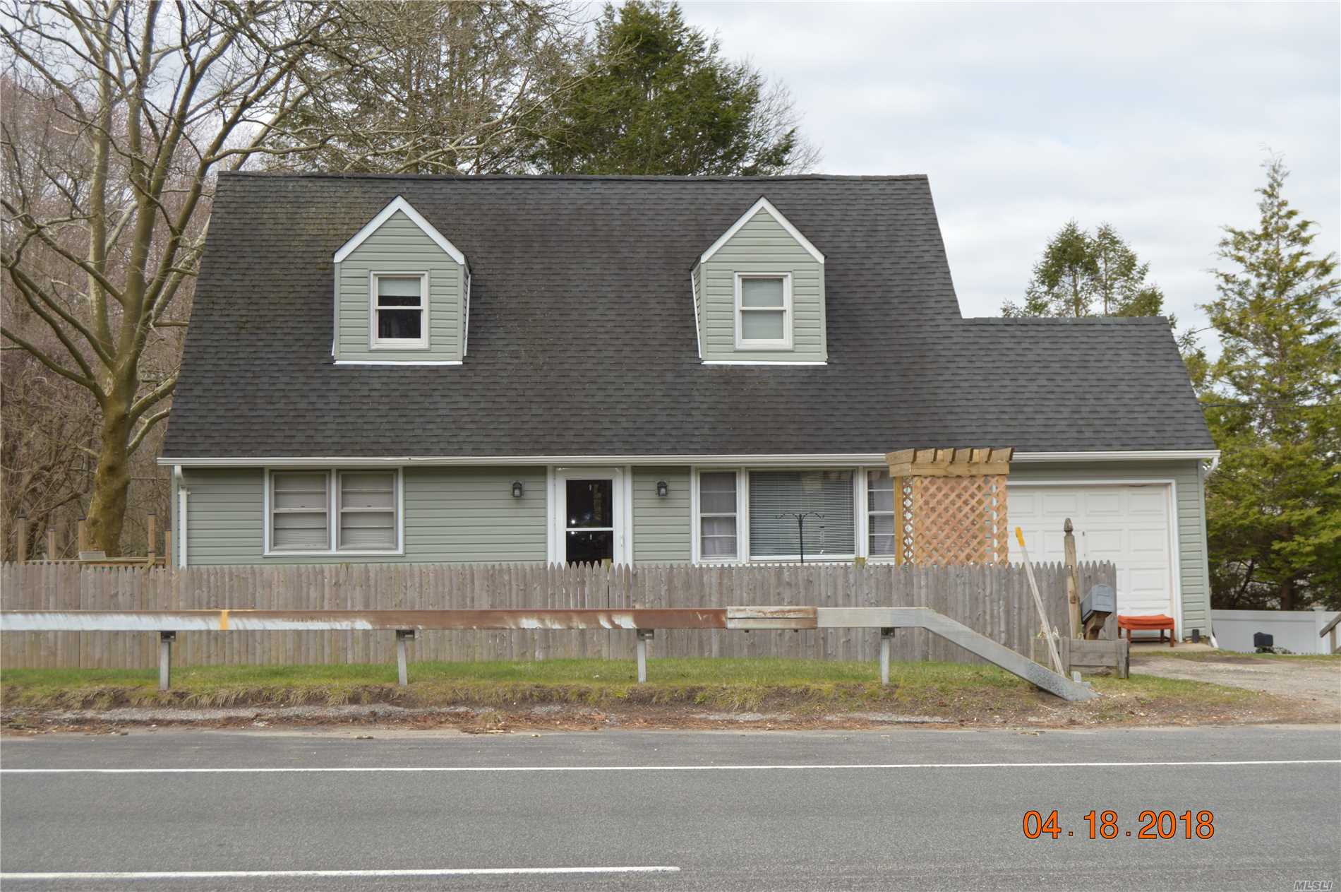 A Great 4 Bedrooom Three Bath Cape On An Oversized Piece Of Property, Adjoining Muttontown Preserve. New Siding, Kitchen, Floors, 1 Car Garage, Close To All.
