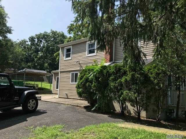 Great Corner Location Just 7.8 Miles To Stony Brook University (17 Minutes) This Is A 2 Level ,  3 Bedroom 1 Bath House With A Large Family Room And Yard, Corner Property. Unfinished Basement For Storage.