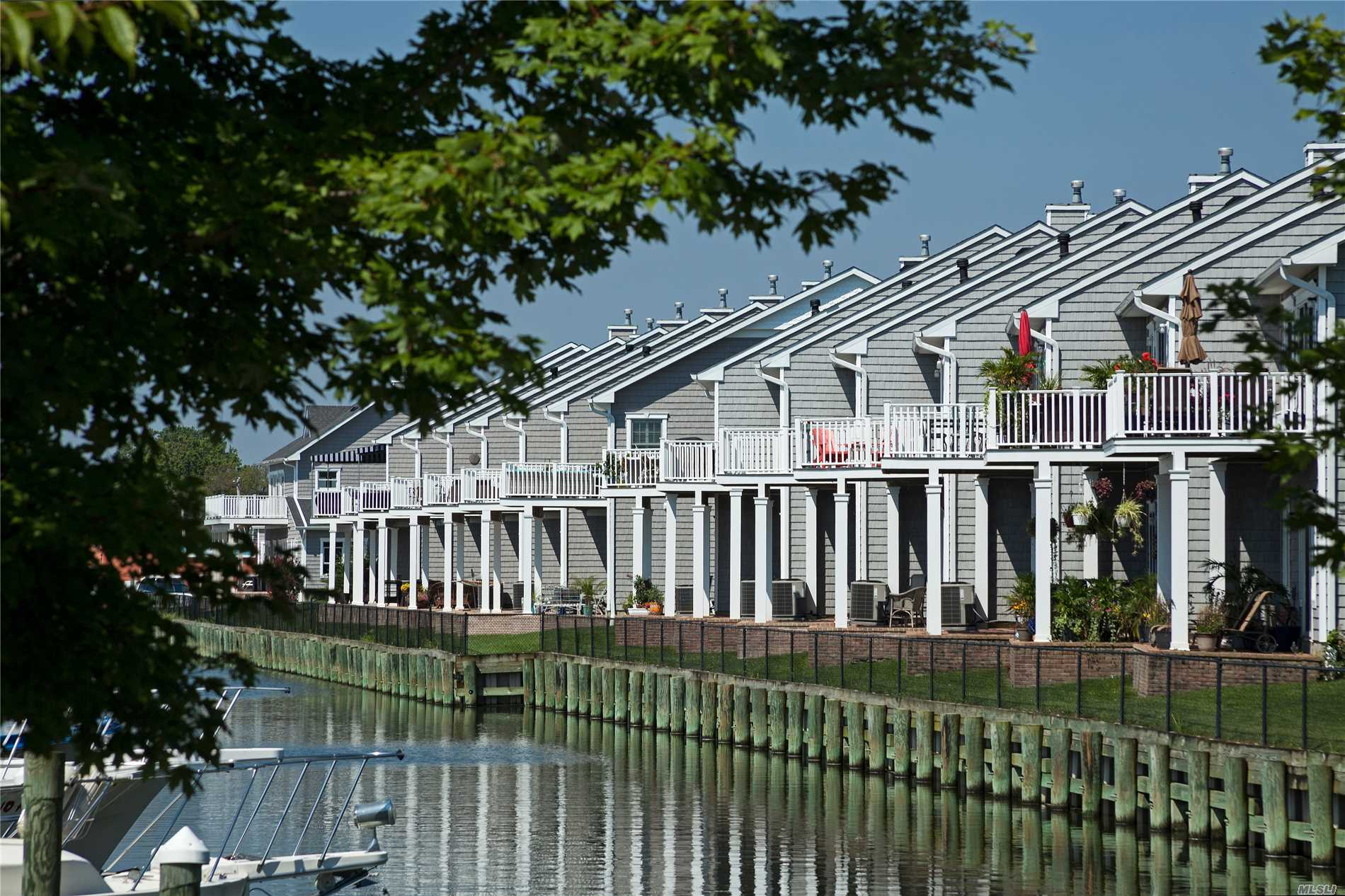 Boaters Heaven !  Luxury Condo's Overlooking Your Deeded Boat Slip. Great Access To The Waters Of Long Island. Many Upgrades Available Including An Elevator.
