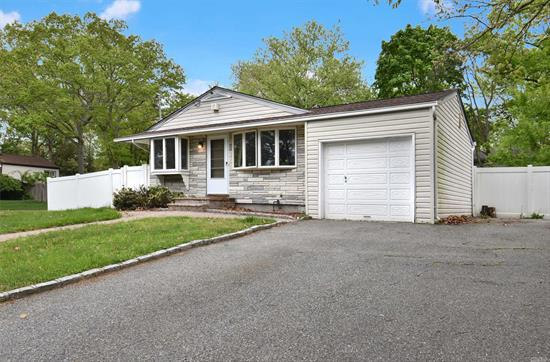Harborfields! 200 Amp Elec;, Hi-Hats, Oak Kit. Cabinets, Ceramic/Granite Eik, Hardwood Floors, Central Air, Gas Heat, Newer Fence, Roof. Nice, Large Side/Rear Yard With Dining Deck. Fully Fenced. Southern Exposure. Prof. Pictures To Follow...