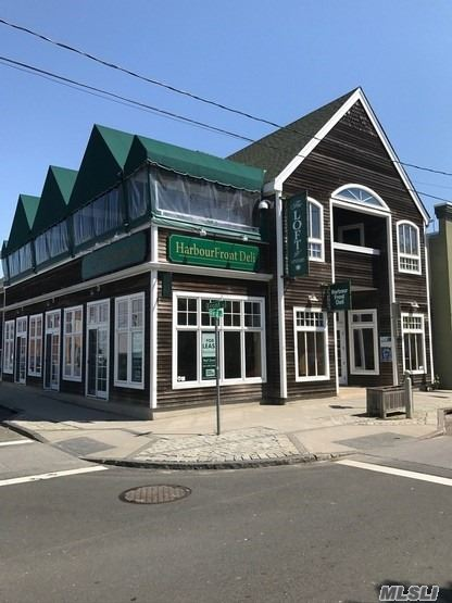 2-Story, 4400 Square Foot Restaurant Building. In The Heart Of The Village Of Greenport's Business On The Ever Growing North Fork. Ground Floor Has Floor To Ceiling Windows And High Ceilings. Fully Equipped Kitchen And All Furniture Is Included. Second Floor Includes A More Formal Dining Room And A 50-Seat Covered Outdoor Deck