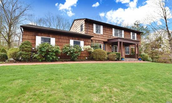 Meticulously Maintained 4Br, 2.5 Bth Ctr Hall Colonial Located In Commack Sd, Beautifully Landscaped, Setback On A Parklike Acre. New Roof, Cac, Heating, Anderson Windows. Updated Kitchen W/Ss App, Granite Cts, Cherry Cabinets, Porcelain Tile Floors, Sunny Breakfst Area W/Sliders To A Brick Patio, Updated Baths, Freshly Painted, Refinished Wood Flrs Thoughout.
