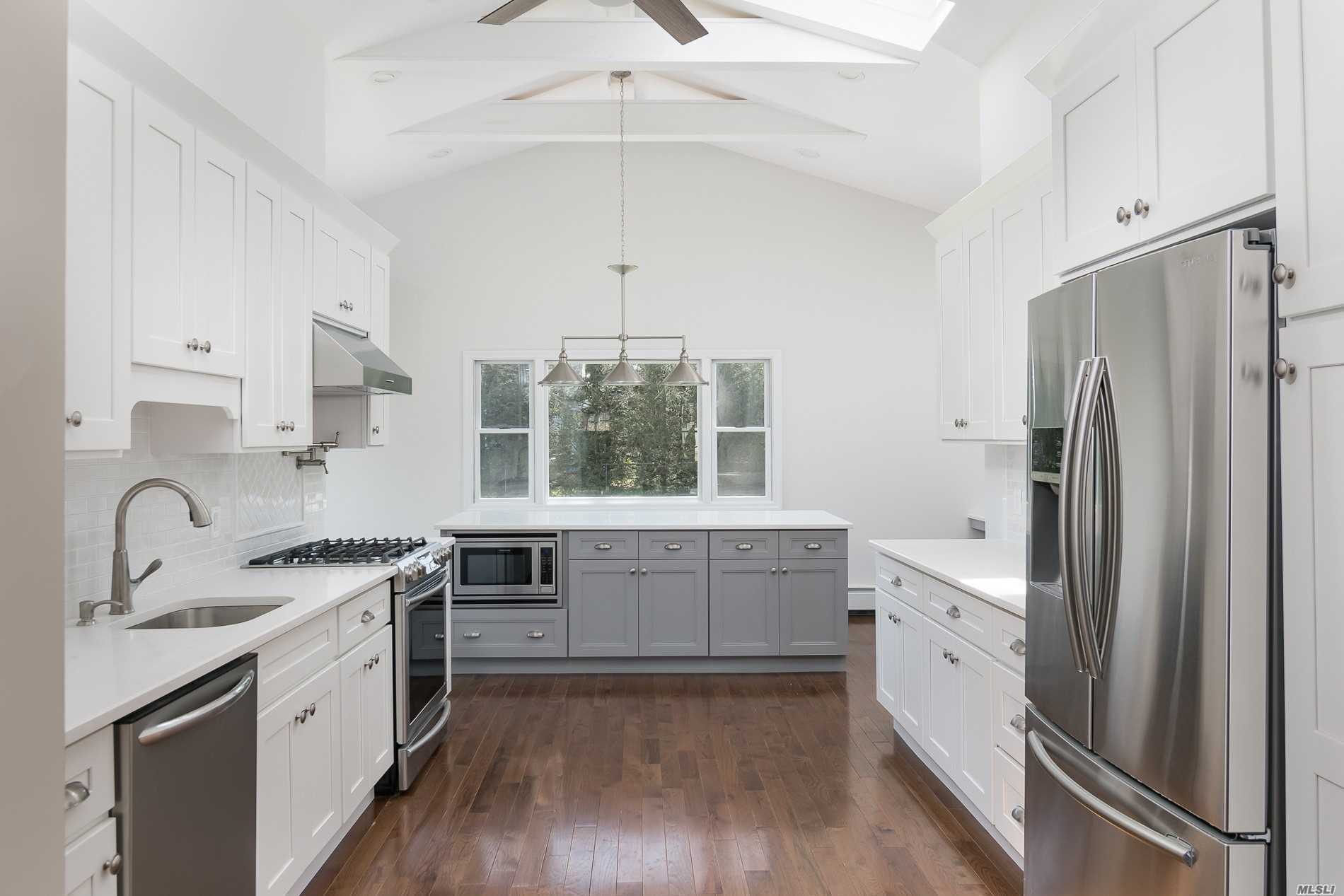 Outstanding Architectural Elements! Open Floor Plan. Dramatic 12' Ceilings & High-End Details & Finishes. Totally Renov. One Of A Kind. Chef's Kitchen W/Quartz Counter Tops, Stainless, New Hw Floors, Wine Bar, Fenced, Ductless A/Cs & Cac, Fire Feature, King Master Suite W/ Wic. Fin. Basement W/ Full Bath. 4 Car Drive. Side Entrance To Basement. Create Your Resort Backyard On 80X130 Property. Quiet Block. Entertainers Dream! Dinkelmeyer Elem.