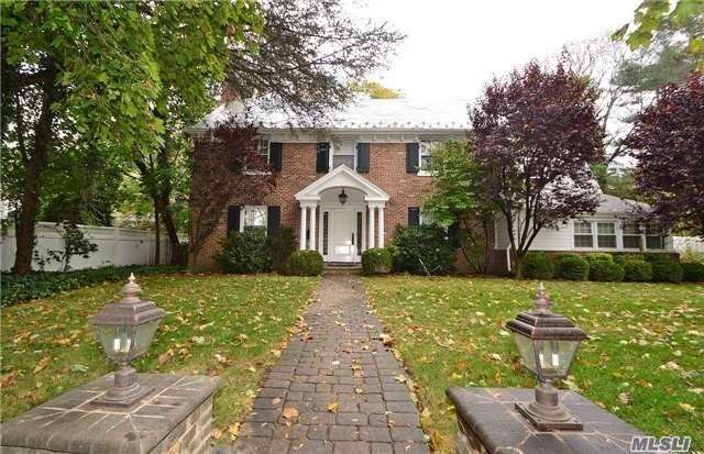 Stately Brick Colonial. New Eik With Breakfast Rm. Very Large Lr/Dr And Den. 4 Br 2.5 Ba On Flat Property Located In Village Of Thomaston. Close Tp Lirr. South Schools