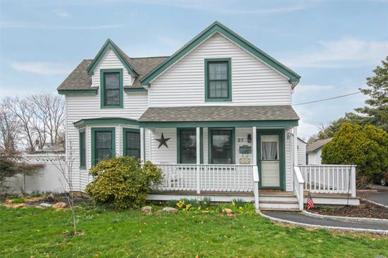 Old World Charm In This Adorable And Clean Home With Almost 1/3 Acre Of Property! Highly Rated And Sought After East Islip School District; Windows, Roof & Siding Are Less Than 10 Years Old; Pool As Gift. *Note: Shed In Back Yard Is Grandfathered In As A Summer Kitchen And May Be Located Elsewhere On The Property!