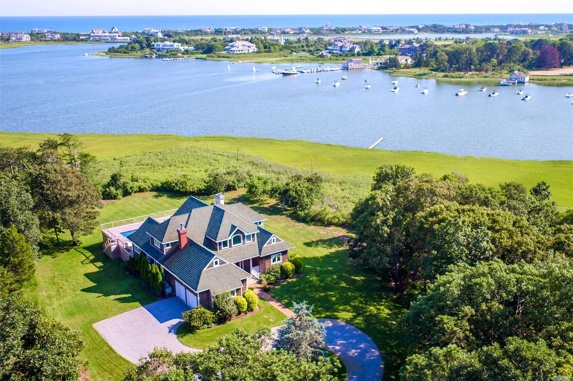 Best Deal In Quogue, Magnificent Views, Beautiful Grounds, Very Private, Fresh And Bright, Deep Water Boat Dock,