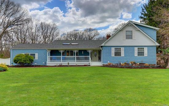 Beautifully Maintained Expanded Farm Ranch - 5 Bedrooms 3 Full Updated Baths, Master Suite On Main Level, Updated Kitchen W/Granite & Ss Appliances, Hardwood Throughout, Formal Dining Rm, Cac, Fplce, Deck Over-Looking Large Yard With I/G Pool, Covered Porch, Full Finished Basement With Outside Entrance, Pantry/Laundry On Main Level, Thermal Windows, Skylites, 2 Car Attached Garage.