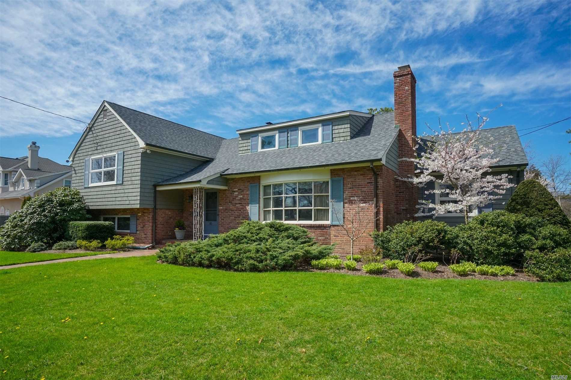 Islip, Bayberry Point, S.O.M, Entry Foyer, Formal Lr Wbfp, Formal Dr, Eik, Office, Tv Room With 1/2 Bath, Fla Room, 2nd Floor 2 Bedrooms Jack & Jill Full Bathroom, 3rd Bedroom And 2nd Full Bath, 3rd Floor Master Suite With 3rd Full Bath. Lower Level With Family Room, Laundry Room With 1/2 Bath, 2.5 Car Attached Garage, Fenced In .8 Acre Lot,  With Outstanding Flower Gardens.Members Enjoy The Adjacent Private Beach, Private Boat Basin, Yacht Club/Youth Sailing Club, Bayberry Beach/Tennis
