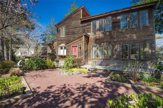 Welcome Home To This Centerport Retreat Where Old Meets New In This Private One Of A Kind Eclectic Colonial With 3/4 Bdrms, Flat Yard W/Zen Gardens. Award Winning Harborfields Sd