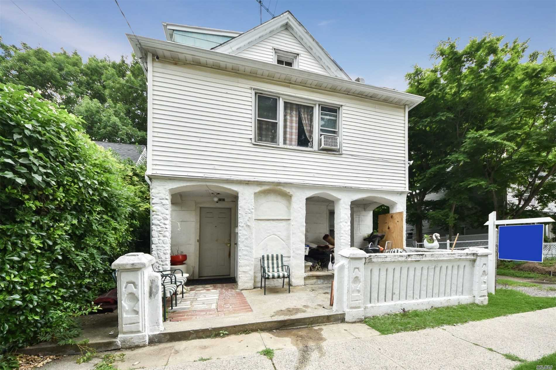 Desirable Colonial On Quiet Street With 4 Bedrooms, Space For Office, Hardwood Floors, Spacious Attic,  Gas Cooking, Close To Public Transportation And Shopping. Unique Opportunity To Live In Port Washington Schools.  Do Not Miss This Opportunity!! This Will Not Last. Home Being Sold As Is. 24 Hour Advanced Notice. By Appointment Only. Taxes Have Not Been Grieved. Price Reduced!!