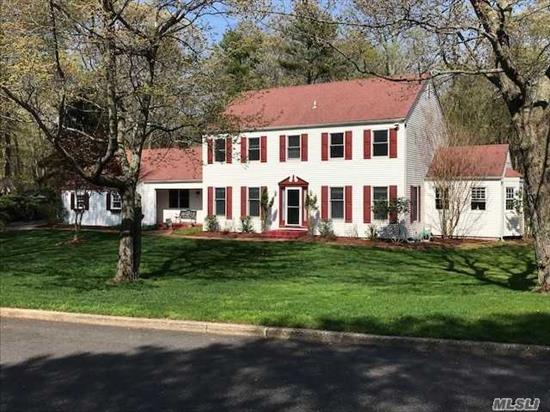 What A Beautiful Spacious Clarendon Colonial With Park Like Property, In Ground Pool, Privacy, 70 Gal Hw Heater,  7 Zone Igs, Cvac, New Anderson Windows. 5th Bedroom/ Library Is A Bonus Room On Main Floor.Private Beach Club, Dues $200 Per Year!