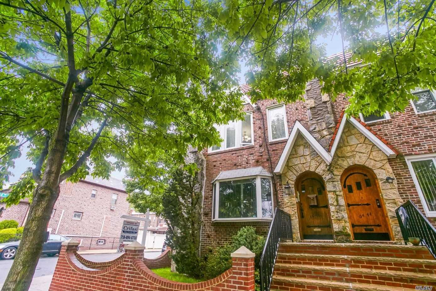 Beautiful Semi-Detatched 2 Family Brick With Finished Basement And 2 Car Garage .This Large Brick Is Only Blocks Away From Shopping And Transportation And Is In The Highly Regarded P.S 49 School