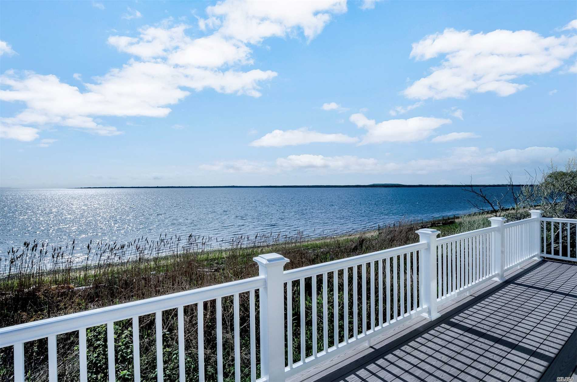 Location ! Location ! Location ! You Can Enjoy Sweeping Views Of The Great South Bay, Fire Island And Beyond In This Custom Built Retreat ! This New Construction Home Has A Full Covered Back Porch On The Main Floor And Huge Balcony Deck From Both Bedrooms Upstairs ! Attention To Detail Show Thru Out This Home ! Custom Appliance Package Included, Magazine Worthy Bathrooms, Vaulted Ceilings , Even A Custom Driveway ! This Is The One !