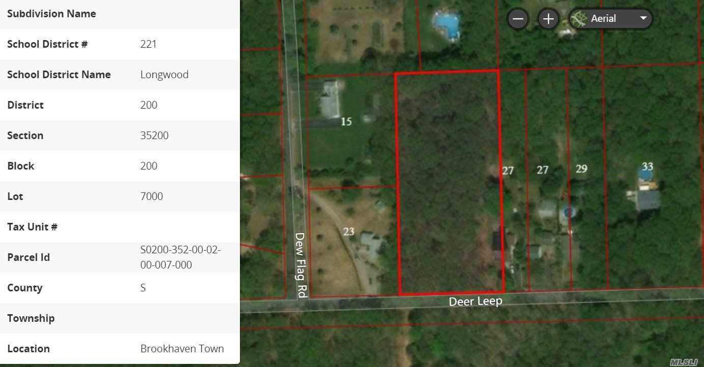 Level Wooded Buildable Lot With Paved Road, Public Water Is Close Will Need Water Main Extension. Just East Of William Floyd Parkway, Close To Lie Exit 68.