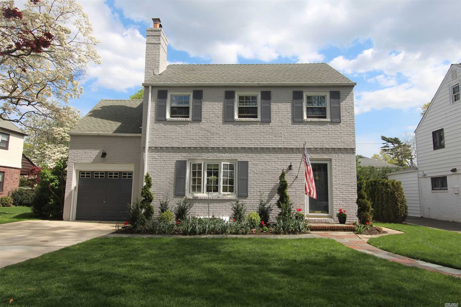 Welcome To The Village Of Garden City. Classic Mott Colonial On A Tree Lined Street. 1st Floor: Features Living Room With Wood Burning Fireplace, Formal Dining Room, Sun Room W/Heat, Eik W/ Subzero Frig, Quartz Counter-Tops, Pro-Grade Appliances & 1/2Bath. 2nd Floor: Includes Master Bedrm With Wic, 2 Additional Bedrooms & Full Bath. Basement Finished W/ Utilities, Washer/Dryer. Pella Windows, French Door & Sliders. Igs & Security System. All Info Should Be Indep Verified Include New Tax Grivance