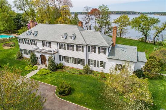 New Price. Breathtaking Western Water Views And Sunsets Plus 394' Of Sandy Beach. Elegance Abounds In This Custom Colonial With 12' Ceilings, Tall Arched Doorways And Stunning Mill Work. Every Room Captures Magical Views Of Ob Harbor. Incredible Details Include Curved Stairway, Maple Paneled Library, Floor-To-Ceiling Windows In Sunroom, 4 Fpls, Mahogany Doors, Chippendale-Style Railings On Balconies, Lighted Steps To Beach, Plus Htd Pool & Pool House.Floating Dock Allowed. Taxes Being Grieved.