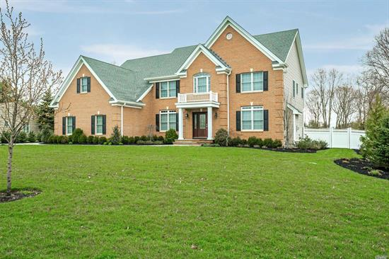 Newly Constructed 2015 Brick Facade Custom5Br, 4 1/2Bath Colonial Mid-Block In Blue Ribbon Harborfields School District Approx. 4200 Sq.Ft.Oversized 3 Car Garage. 9Ft.Full Basement W/Access From Main House & Garage. Oak Floors Throughout.Guest Room W/Full Bath On 1st Floor.Jack & Jill Bath Between Bedroom1&2 And Private Bath In 3rd Bedroom. Master Suite W/Master Bath.300 Amp Electric, Anderson Windows, Cvac, Cac, Igs, Gas Heat & Cooking, Generator Hook-Up.Flat Acre Yard Fenced W/Room For Pool&Tennis.