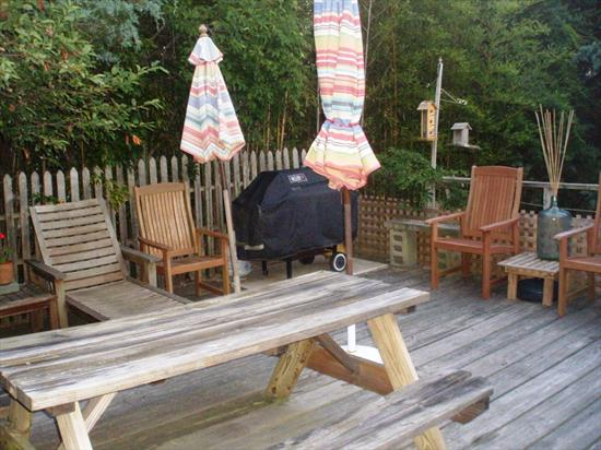 Classic Ocean Beach Home. 4 bedrooms, 1.5 baths, dining area, large living room, central air conditioning, 2 decks with deck furniture and large BBQ grill, outdoor shower, Satellite TV...Best of all only two homes up from the ocean. Interior has been freshly painted. Available for 2 consecutive August weeks for $5,000.