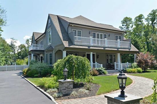 Award Winning Estate Quality Newport Replica-Marble Foyers-Custom Kit.-Fab. Den W/Fpl, Stainless Tiffany Repros, Mahogony Doors *Five Star Resort* Grounds-Cabana-Outdoor Kit.