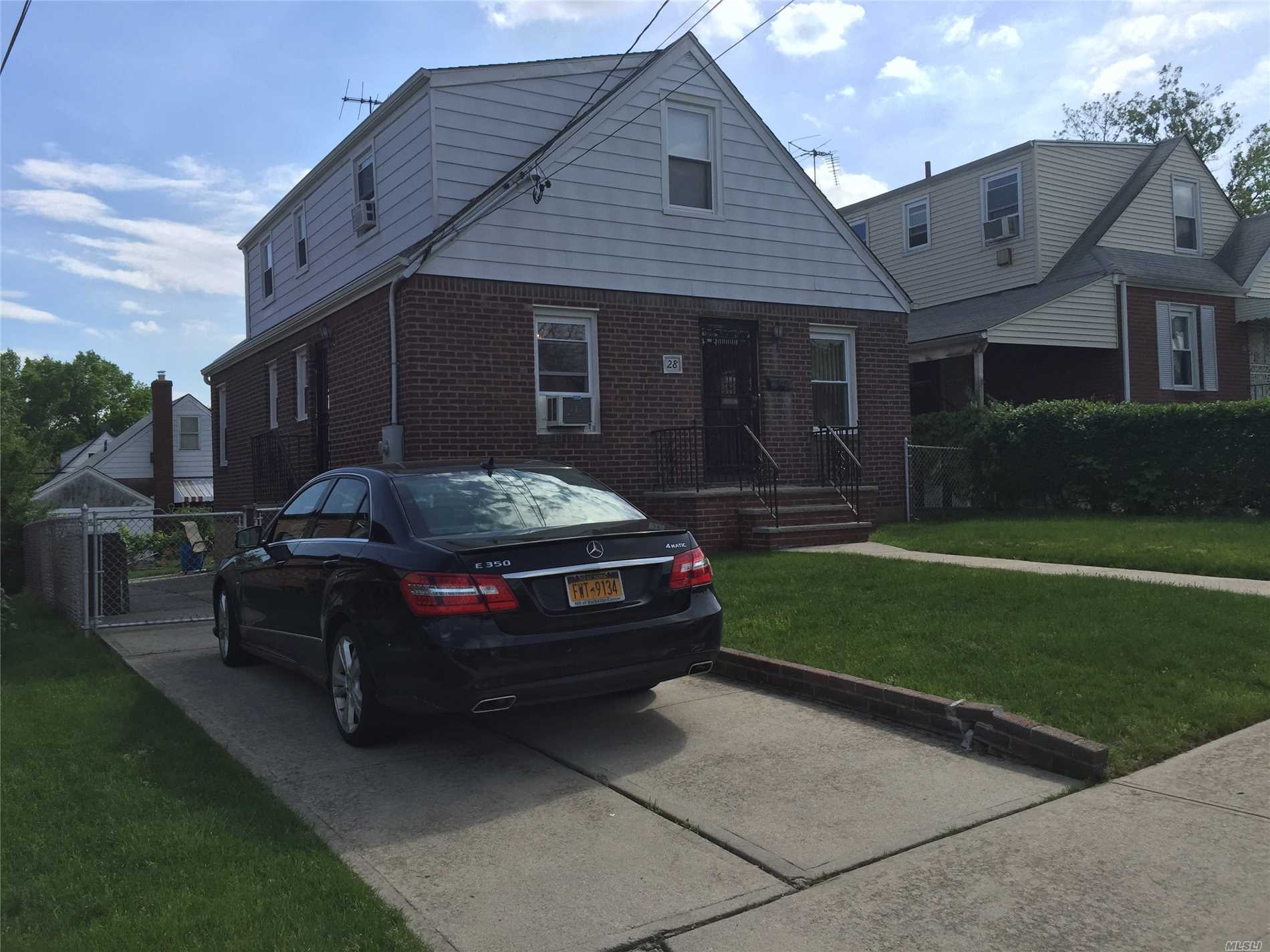 Brick Well Maintained Cape Cod On A Quiet Street Now Available, The First Floor Includes The Kitchen, Living Room, Dining Room, Master Bedroom, Full Bath And A Spare Bedroom Or Office.The Second Floor Includes Two Bedrooms And Full Bath.The Basement Is Partially Finished And Provides Plenty Of Storage..New Gas Heating System.5 Window Air Conditioners .Convenient To Highways And Schools.
