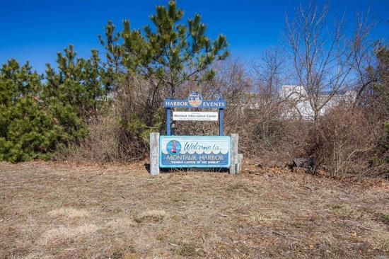 Beautiful Vacant Lot Overlooking The Sound In Montauk Harbor. Zoned Resort-Single Family Residential Is Allowed!