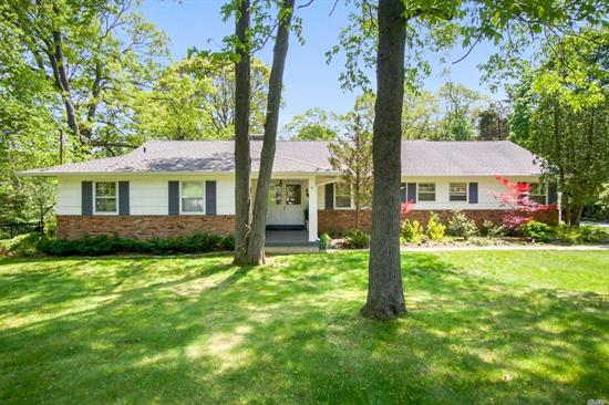 This Warm & Sunlit Center Hall Ranch Is Set On A 2 Acre Cleared/Usable Property. Exceptional Location Just Under 3 Miles To Train, Shopping , Schools, Village Beach/Mooring (Addl.Fee) Large Principal Rooms. 20 X 40 Gunite Pool (As Is) Award Winning Csh #2 School District.