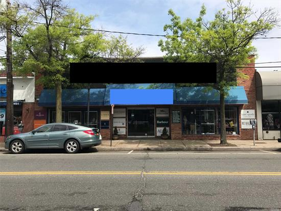 Prime Retail Space Along Port Washington's Main Street Corridor. 15 Main Features 51 Feet Of Frontage, 5300 Sqft Of Retail Space, An Equally Sized Basement And 6 Off Street Parking Spaces. Just Over One Block From The Lirr Port Washington Train Station And Just A Half Block From The Port Washington Blvd / Main Street Intersection, 15 Main Boasts Its Location As One Of The Best In Town For Accessibility. See Setup Attached.