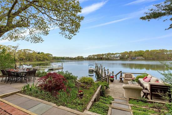 New To The Market - Premier Showing. It Doesn't Get Any Better! Waterfront, Dock, Wide Open Views, Beautiful Designer Gardens, 3/4 Bedrooms, 2 Baths, Great Room, Cottage /Garage. Private And Extra Special!