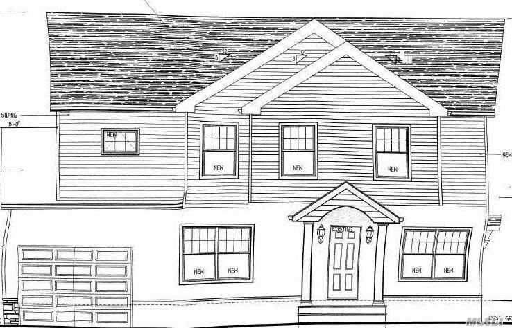 Purposed Plans At This Point - House Can Be Completely Customized To A Buyers Needs With Customized Price- Beautiful Home In A Great Location, A Few Blocks From A Neighborhood Park & Route 107. House Features, 4 Bedroom With 4 Full Bathrooms Total. Has A Large Kitchen With A Center Island And A Large Family Room. Each Floor Has A Full Bathroom. There's A Finished Basement With A Full Bath And Outside Entrance.