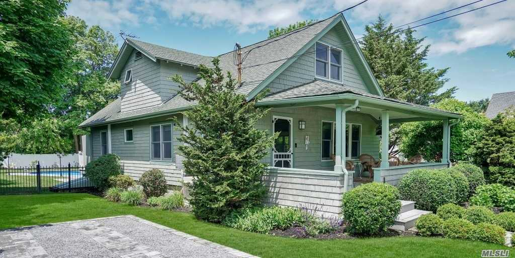 Greenport Village, Well Maintained, 1920'S Bungalow With In-Ground Salt Water Pool In Desirable West Dublin Area. Open Living/Dining Area W/Fireplace. Hardwood Floors. Central Air Conditioning. Large Deck Overlooking In-Ground Pool. Bay Beach At The End Of The Street. Nyc Transportation, Village Shops & Restaurants, Waterfront Park And Marina Nearby. View The Virtual Tour!