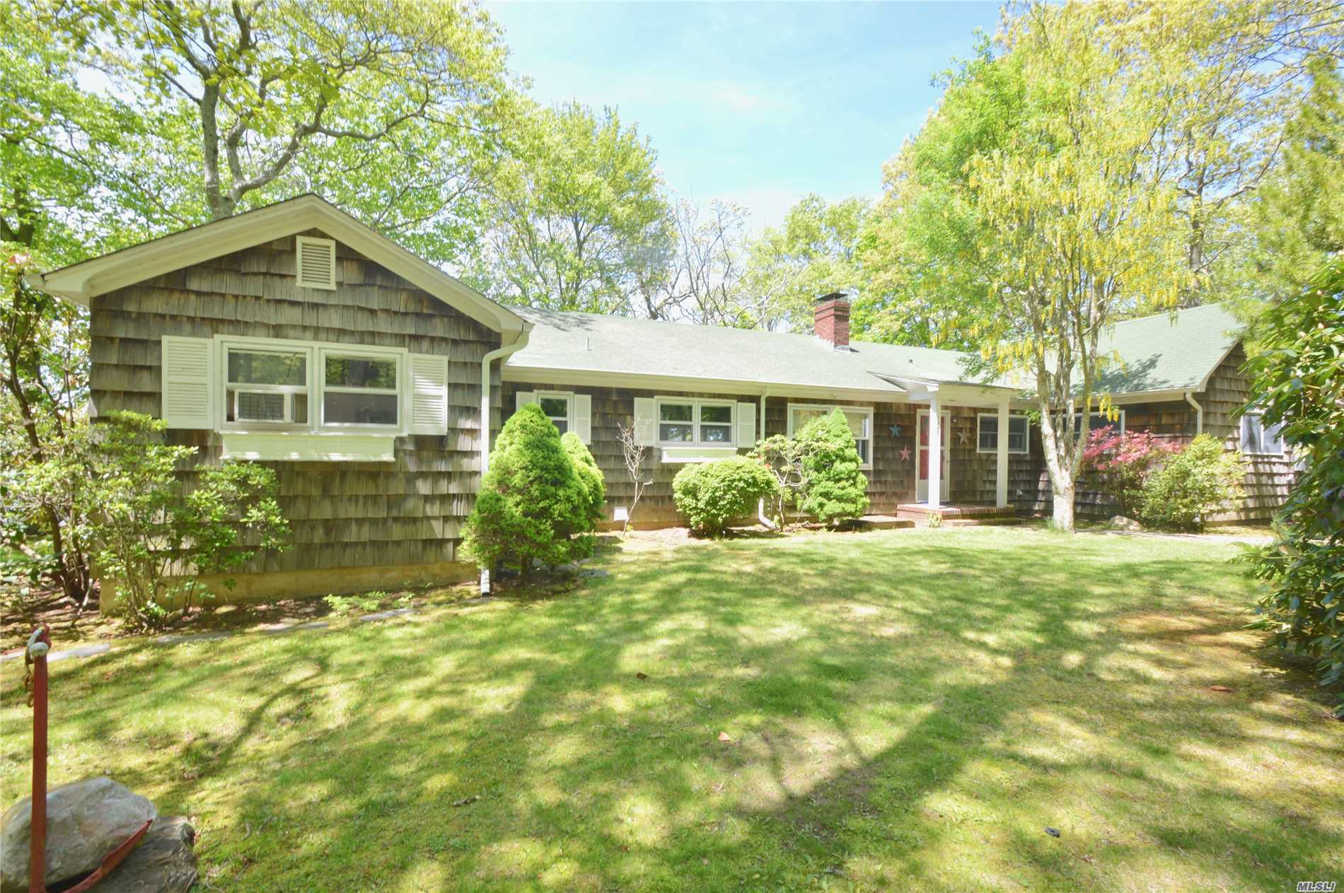 Picturesque & Tranquil, Near Historic Southold & Scenic Greenport - North Fork Living At Its Best! 1/2 Acre W/ Unobstructed Access To 212 Ft Of Great Pond, W/ 90 Ft Of Waterfront - Ideal For Freshwater Boating, Fishing, Swimming. Close To Kenny's Beach & Many Vineyards Close By. 3-Beds, 2-Baths, 2, 063 Sq Ft. Huge Living Room W/ Glass Doors To Large, Shaded Deck Overlooking Pond, Formal Dining Room, Den W/ Wood Burning Fireplace Open To Eat In Kitchen. All Rooms W/ Sweeping Pond Views.