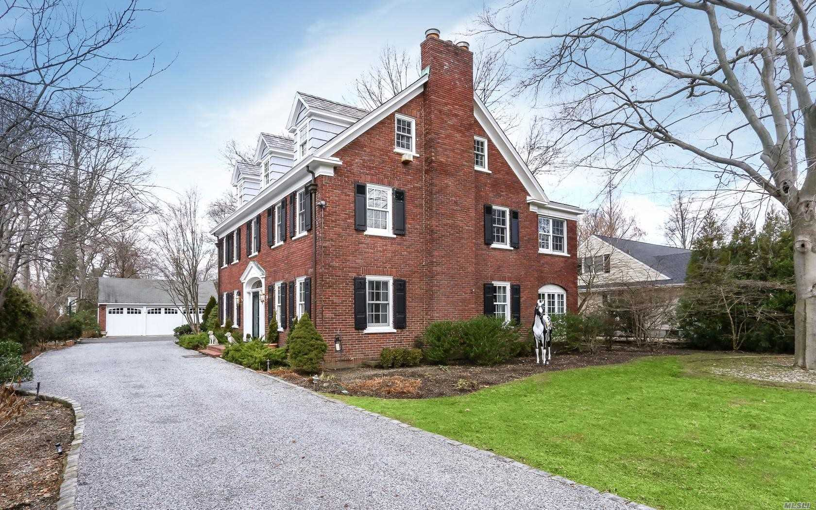 This Beautiful Brick Center Hall Colonial In The Central Section Of Town Boasts A 100 X 263 Lot. The Home Features A Grand Ent Fyr, Spacious Lr W/Fp, Fdr, Eik W/Bp, Office W/Fp, & Den. The 2nd Fl Mbr Suite W/Sitting Rm & 4 Addl 2nd Fl Brs Serviced By 3 Full Baths. Spacious Walk Up Attic For Storage, Basement Rec Rm W/Fp, 4 Zones Heat, 2 Zones Cac, Young Windows & Boiler. A Remarkable Value For The Size & Location Of The Home & The Lot!