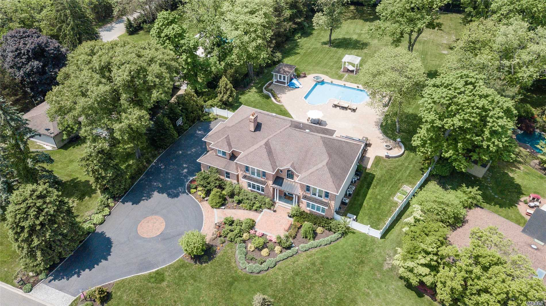 Pristine Custom 6-Bedroom, 4.5-Bath Center Hall Brick Colonial Home. 2 Story Entry Foyer, Generously Proportioned Rooms W/Open Layout. Gourmet Eat-In-Kitchen, Banquet Size Dining Room. Radiant Heat In Kitchen/Baths. Flat Fenced Property - New Heated Saltwater Pool, Overflow Spa And Firepit. Professionally Landscaped. Room For Tennis Court. New Generator  Walt Whitman Elementary, Hbt Middle School. Sellers Will Pay First Year Taxes $42K