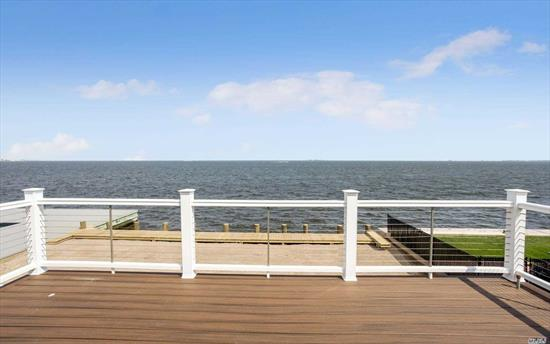 Breathtaking Bay Views And Spectacular Sunsets! Recently Renovated Split Level Home. Magnificent Great Room With Sliders To New Multi Level Deck Overlooking Great South Bay. New 60' Navy Grade Bulkhead. New Cac, Navien Heating System With Radiant Heat In New Great Room, Roof, Hardieplank Siding, Cac Unit. Gas Line In Deck For Bbq As Well As One In Great Room For A Gas Fp. Post Sandy Completely Raised. A Must See!