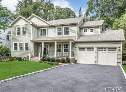 Custom New Colonial! Covered Front Porch, Entry Foyer, Living Room, Fdr, Eat-In-Kitchen W/ Stone Countertops, Stainless Steel Appliances, Great Room W/ Fireplace, Half Bath & Mud Rm. 2nd Floor Master Bedroom Suite, 3 Additional Bedrooms, Family Bath. Laundry Room, Oak Floors Throughout. 2 Zones Hydro Air Heating, 2 Zones Cac, Navian Boiler, 2 Car Attached Garage. Ready To Finish Basement W/ 8 Ft Ceilings & Fire Egress Window. Award Winning North Shore Schools!